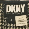 DKNY Wool Pleated A-line Mini Mini Skirt black and cream Plaid with leather strap Image 1