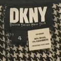 DKNY Wool Pleated A-line Mini Mini Skirt black and cream Plaid with leather strap Image 2