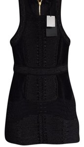 Balmain x H&M short dress black velvet on Tradesy