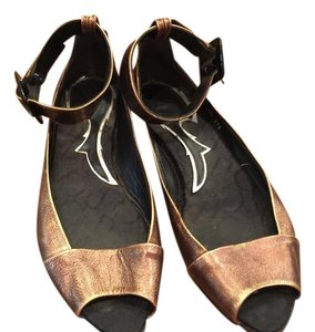 Ankle Strap Copper Flats