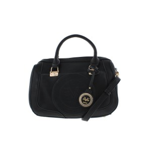 Versace 19.69 Satchel in Black Gold