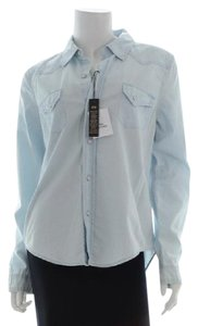 Victoria's Secret Button Down Shirt Light Blue