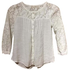 Only Mine Lace Boho Festival Hippie Top Cream/White