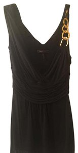 BCBGMAXAZRIA Gold Hardware Top Black