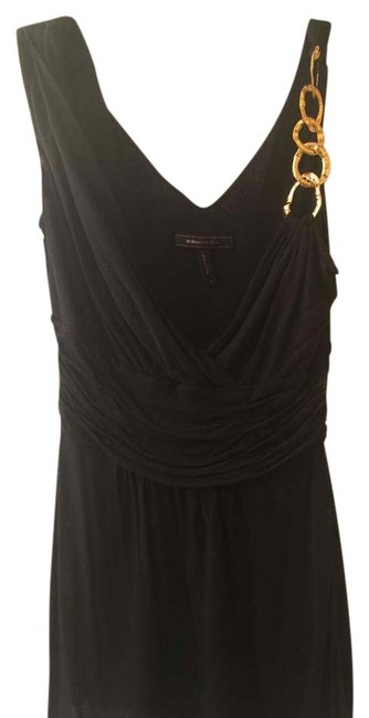BCBGMAXAZRIA Gold Hardware Top Black Image 0