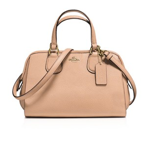 Coach Satchel in Light Tan