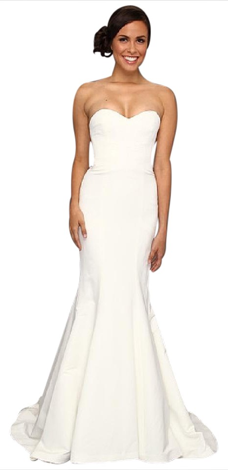 Nicole Miller Bridal Ivory Silk Faille Dakota Modern Wedding Dress ...