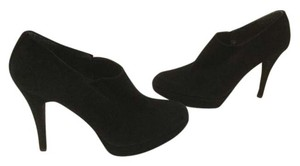 Stuart Weitzman Stretch Gussets Black suede all leather platform ankle Boots