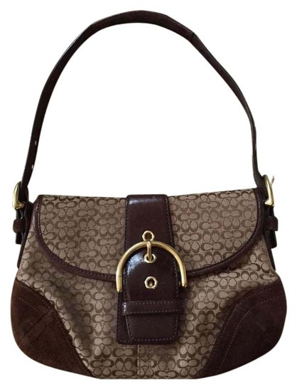 Preload https://img-static.tradesy.com/item/20185595/coach-soho-small-brown-suede-brass-leather-satchel-0-1-540-540.jpg