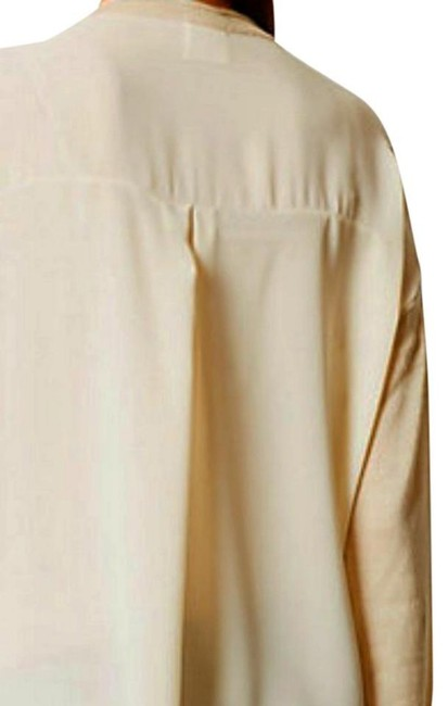 Anthropologie Comfy Sweater Front Chiffon Back Boxy Pullover Super Unique Top Ivory Image 6