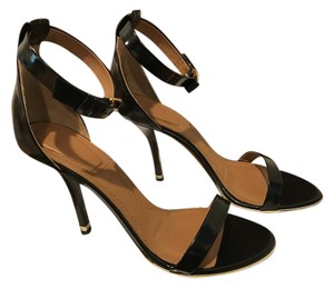 Givenchy Ankle Buckle Closure Heels Black Sandals