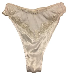 Victoria's Secret Lace and pearl embelished Thongs