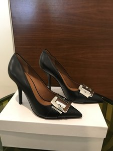 Givenchy Metal Buckle Leather Black Pumps