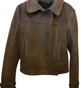 United Colors of Benetton Tan or brown Leather Jacket