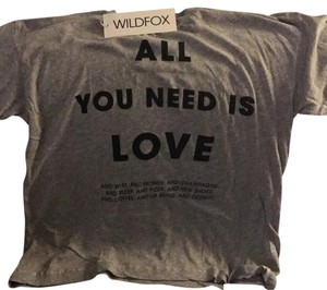 Wildfox T Shirt Grey