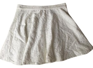Topshop Lace Mini Summer Vacation Mini Skirt white