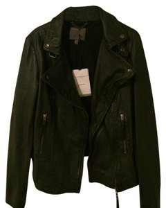 Muubaa Flax Leather With Buckles Motorcycle Jacket