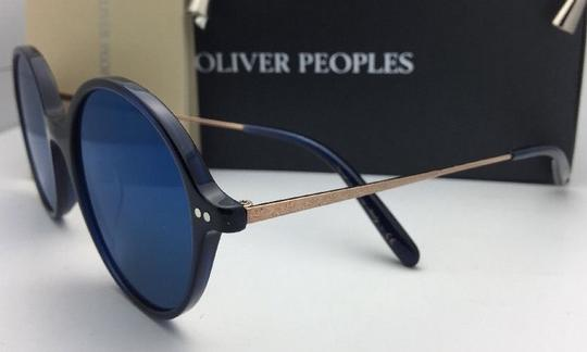 Oliver Peoples New OLIVER PEOPLES Sunglasses CORBY OV 5347SU 156696 51-19 Blue & Gold Image 1