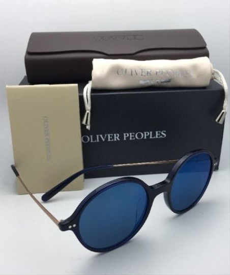 Oliver Peoples New OLIVER PEOPLES Sunglasses CORBY OV 5347SU 156696 51-19 Blue & Gold Image 2