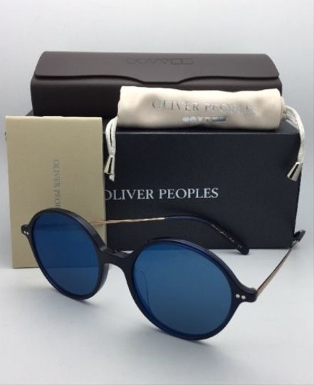 Oliver Peoples New OLIVER PEOPLES Sunglasses CORBY OV 5347SU 156696 51-19 Blue & Gold Image 4