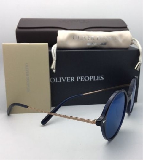 Oliver Peoples New OLIVER PEOPLES Sunglasses CORBY OV 5347SU 156696 51-19 Blue & Gold Image 6