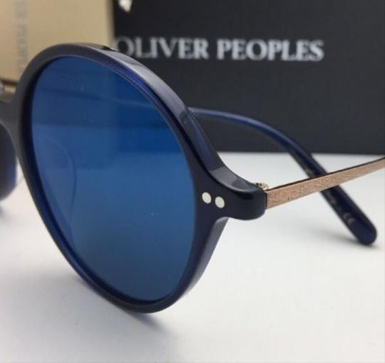 Oliver Peoples New OLIVER PEOPLES Sunglasses CORBY OV 5347SU 156696 51-19 Blue & Gold Image 7