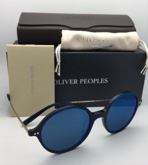 Oliver Peoples New OLIVER PEOPLES Sunglasses CORBY OV 5347SU 156696 51-19 Blue & Gold Image 9