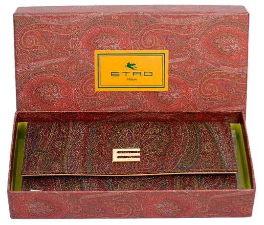 Preload https://img-static.tradesy.com/item/20185880/etro-multibrown-calf-leather-and-cotton-blend-paisley-wallet-0-3-540-540.jpg
