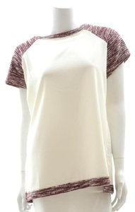 Sanctuary Clothing Top Cream/Burgundy