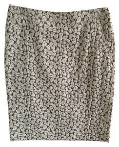 J.Crew Pencil Office Work Navy Skirt Cream