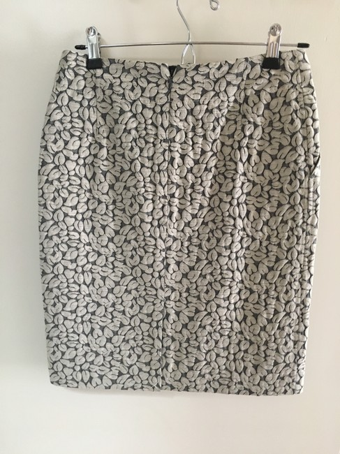 J.Crew Pencil Office Work Navy Skirt Cream Image 2