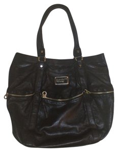 Marc Jacobs Leather Metallic Hardware Tote in Black
