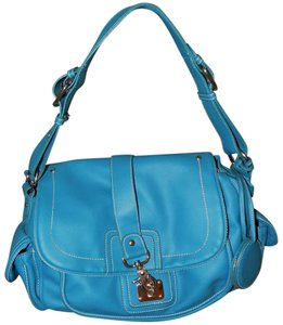 Avon Bold Classic Faux Leather Signature Satchel in Turquoise