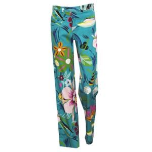 Gucci Floral Hawaiian Print Vintage Tom Ford Straight Pants Multi
