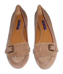 Ralph Lauren Collection Sophisticated Made In Italy Camel Flats