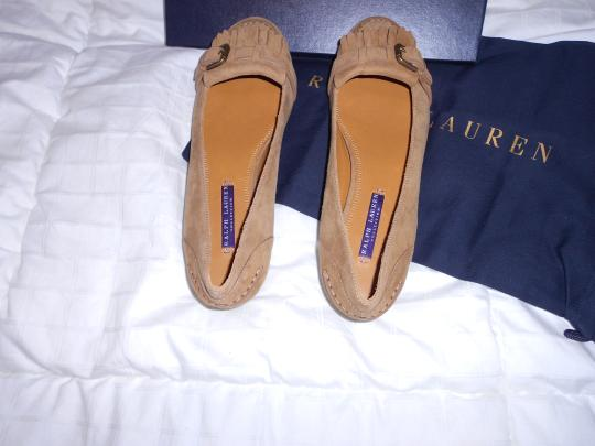 Ralph Lauren Collection Sophisticated Made In Italy Brown Flats Image 1