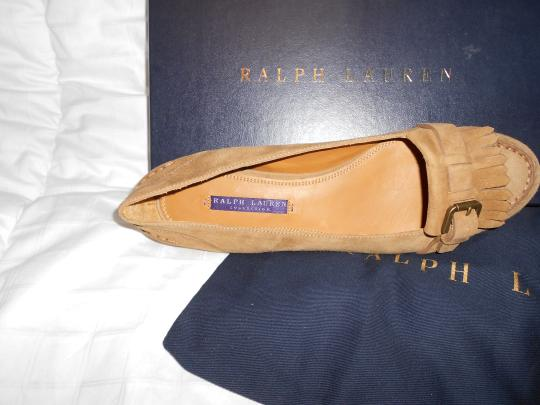 Ralph Lauren Collection Sophisticated Made In Italy Brown Flats Image 2