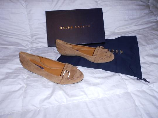 Ralph Lauren Collection Sophisticated Made In Italy Brown Flats Image 3