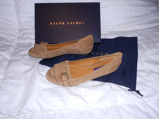 Ralph Lauren Collection Sophisticated Made In Italy Brown Flats Image 4