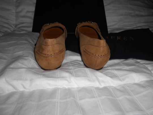 Ralph Lauren Collection Sophisticated Made In Italy Brown Flats Image 5