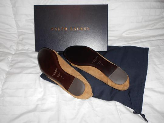 Ralph Lauren Collection Sophisticated Made In Italy Brown Flats Image 6