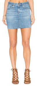 AG Adriano Goldschmied Jeans Denim Mini Skirt Mini/Short Shorts Blue