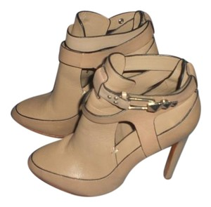 Badgley Mischka Sexy Leather Couture Mark James Beige Boots