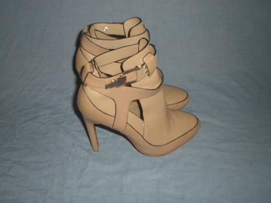 Badgley Mischka Sexy Leather Couture Mark James Beige Boots Image 1