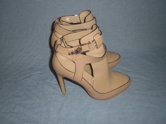 Badgley Mischka Sexy Leather Couture Mark James Beige Boots Image 3