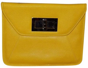 Apt. 9 Bold Gold Hardware Bright Yellow Clutch