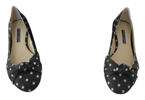 Ralph Lauren Collection Made In Spain Black/Cream Flats
