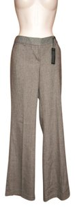 Express Wool Tweed Flare Pants Brown