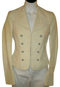Polo Ralph Lauren Ivory Leather Jacket