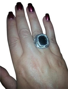 David Yurman NEW Black Onyx and Diamonds ring